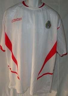 Mexico Futbol Mexicano White Soccer Jersey Shirt Top Adult XL Used