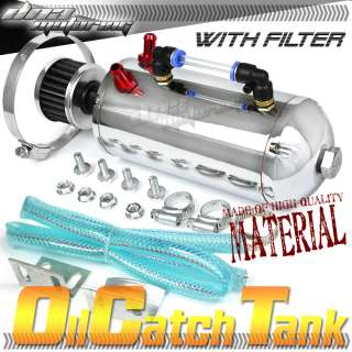 POLISHED BREATHER GREEN AIR FILTER OIL CATCH TANK/CAN 750ML ENGINE