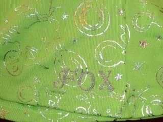 Fox Girls Moto Picot Womens Lime Green Tank Top New NWT
