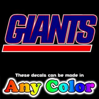 New York Giants Full Color Logo 13 x 18 inch Auto Car Truck Window