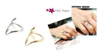 KOREAN] Modern Stylish Wide V Line HOLIC Women Lady Fashion Ring