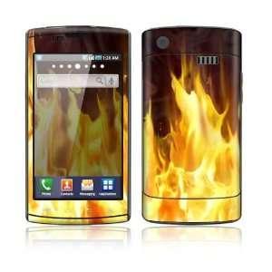 Furious Fire Decorative Skin Cover Decal Sticker for Samsung Captivate