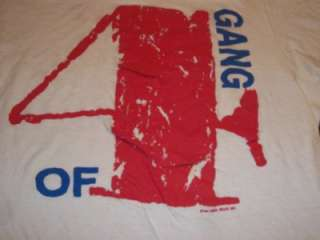 vtg GANG OF FOUR 1983 HARD concert tour t shirt L rare