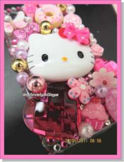HELLO KITTY IPHONE 4 4G 4S PINK BUTTERFLY BLING CELL PHONE CASE COVER