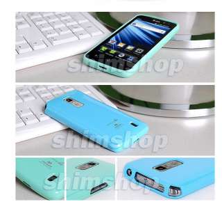 HD OPTIMUS 4G LTE P930 BLACK WHITE JELLY TPU SILICONE GEL COVER CASE