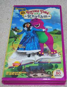 BARNEY RHYME TIME RHYTHM MOTHER GOOSE VHS VIDEO TAPE 045986020390