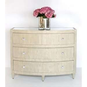 Worlds Away Natalie Lio limed oak bow front dresser: Furniture & Decor