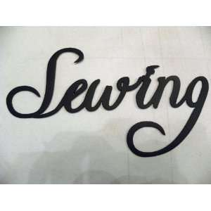 Sewing Word Metal Wall Art Home Kitchen Decor