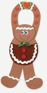 Gingerbread Man Pouch Craft Kit Foam Door Hanger FUN!