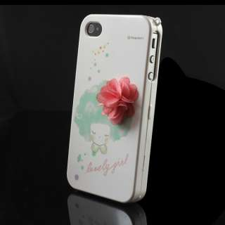 Fashion Lovely Girl Front Back Hard Cover Case Skin for Apple iPhone 4