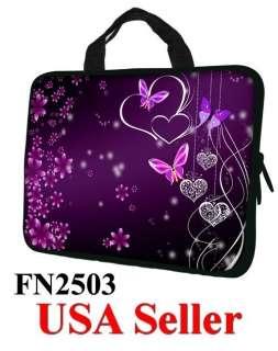 13.3 Neoprene Laptop Sleeve with Hidden Handle for 12 13 Butterfly