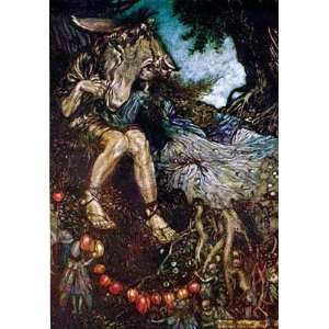 Window Cling Arthur Rackham Midsummer Nights Dream 003