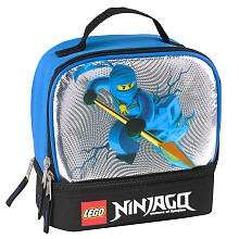 LEGO Ninjago Dual Compartment Lunch Kit   Blue and Black