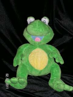 Luv N Care Nuby Green Frog Tickle Toes Giggling Plush