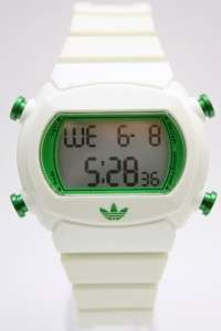 Adidas Women Candy Green White Rubber Band Chronograph Watch 45mm x