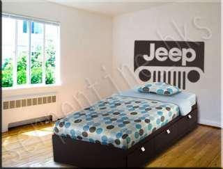 """Jeep """"Headboard"""" Wall Art Vinyl Decal Sticker Décor"""
