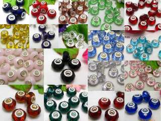 19colors Authentic Crystal Faceted Glass Beads Charm Fit European