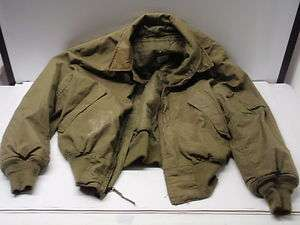 1980s US Army Military Cold Weather Pilot Flight Jacket Uniform Used