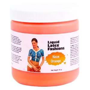 Ammonia Free Liquid Latex Body Paint   32oz Neon Orange Beauty