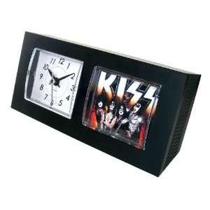 KISS rock band sleek table or desk clock