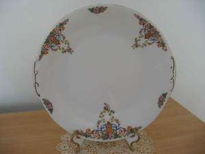 Vintage Handled Cake Plate~Victoria China~Czechoslovaki