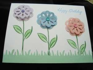 Handmade Happy Birthday Card Stampin Up Flowers