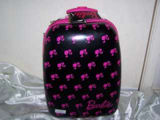 Barbie Hard Shell Rolling 19 Suit case Luggage Travel Case New