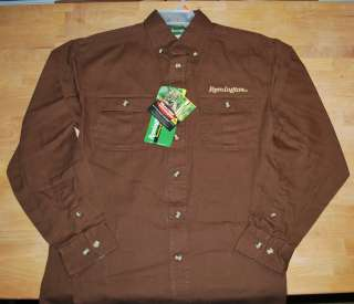 REMINGTON LONG SLEEVED MENS SHIRT BROWN REALTREE HARDWOODS 100%COTTON