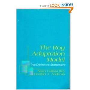 The Roy Adaptation Model: The Definitive Statement