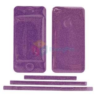 Pink Full Body Bling Cover Film Glitter Skin Sticker For Apple iPhone