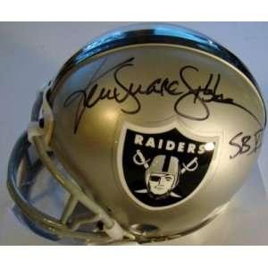 Ken SNAKE Stabler SIGNED RAIDERS Mini Helmet   Autographed NFL Mini