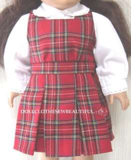 DOLL CLOTHES Fits American Girl Molly School Jumper Set