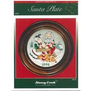 Santa Plate (Chart pack)   Cross Stitch Pattern: Arts