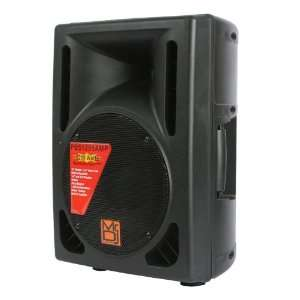 Mr. Dj PBS1205AMP Powered Speaker Cabinet, Black Musical