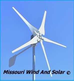 12volt 5 blade wind turbine generator 500 watt dc output made USA