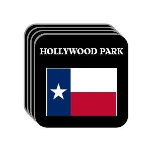 US State Flag   HOLLYWOOD PARK, Texas (TX) Set of 4 Mini