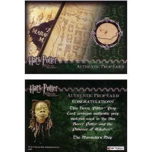 Potter Azkaban Update Prop Card   Marauders Map # / 500: Toys & Games