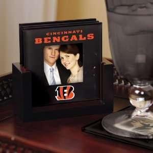 Football Cincinnati Bengals Art Glass Coaster Set Bengals Kitchen