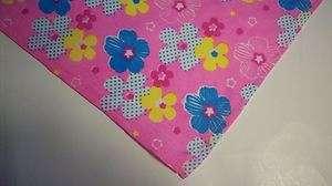 Dog Bandana Tie On Slide On Pink Summer Spring Flowers Diva Girl Scarf