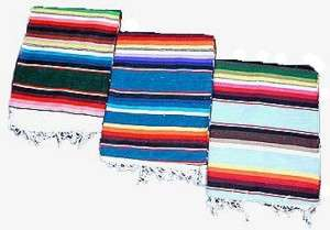 Cotton Serape Saltillo Mexican Blanket hot rod cover throw rug