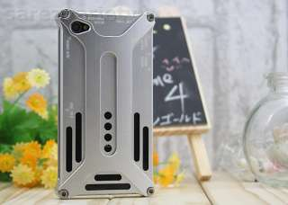 NEW SILVER DURABLE ALUMINUM METAL HARD CASE COVER FULL BODY FOR IPHONE