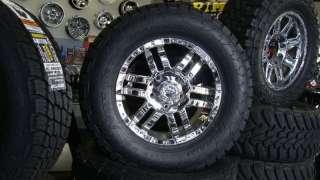 18 Moto Metal 951 Chrome Wheels 325/60 18 Nitto Terra