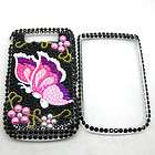 Front & Back Bling Diamond Case Crystal Cover For Blackberry Torch