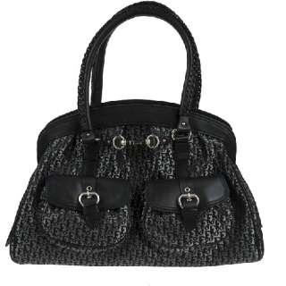 NEW CHRISTIAN DIOR Diorissimo Canvas Leather Satchel Shoulder Bag