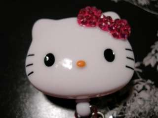 Bling Hello Kitty Retractable ID Badge Holder US Seller/