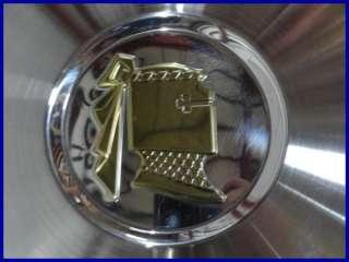 1957 57 DODGE LANCER 14 HUBCAPS HUB CAPS NEW NOS GOLD EMBLEM DE 57 WC