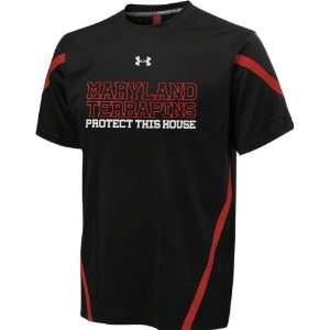 Maryland Terrapins Black Under Armour Performance Football