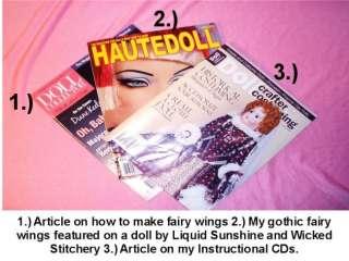 OOAK Gothic Barbie Fairy Doll Custom One of a Kind Tattoos Bat Wings
