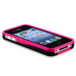 compatible with apple iphone 4 at t verizon hot pink black quantity 1