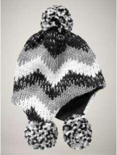 NWT GAP KIDS Girls Chunky Knit Hat True Black S/M Small/Medium